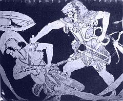 Eracle combatte contro un'Amazzone (nona fatica)