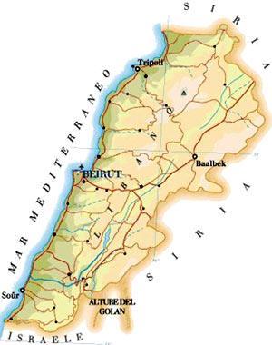 Cartina Fisica Del Libano.Il Cipresso Tagliato La Questione Libanese Carmilla On Line