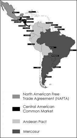 Panorama commerciale america latina