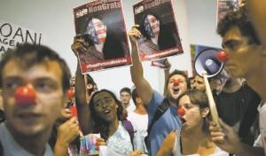 Yoani contestata (Sao Paulo, Brasile, 21 febbraio 2013)