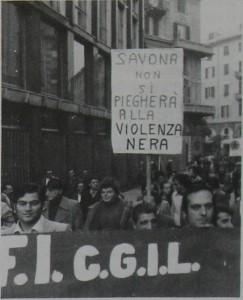 Savona non si piegherà alla violenza nera, Società&Lavoro, 1984, p.11