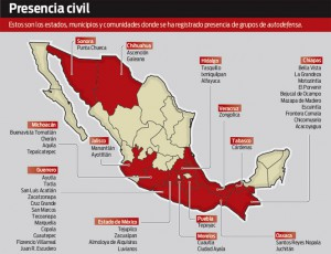 Autodefensas mexico mapa