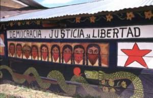 Chiapas mural zapatista