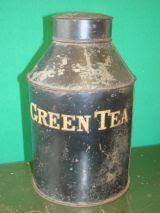 toleware green tea tin