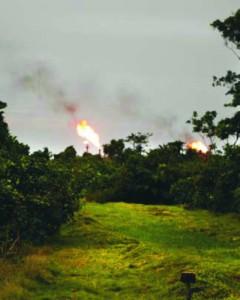 Gas flaring a Kwale. Foto: Luca Tommasini 2011.