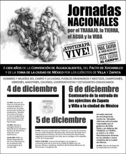 Ayotzi poster proteste 4-5-6 dic