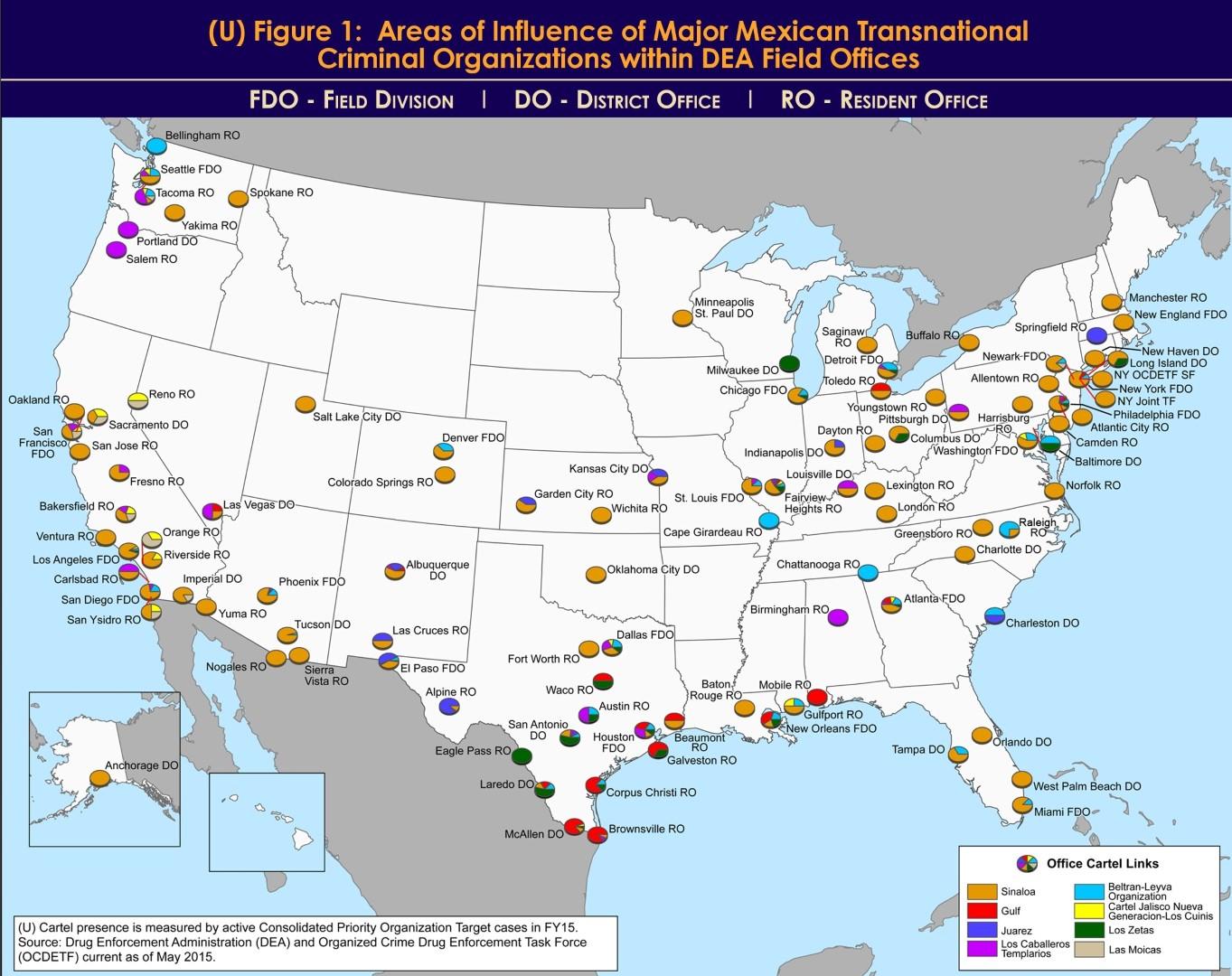 Cartina Geografica Politica Del Messico.Nuova Mappa Del Narcotraffico In Messico E Negli Stati Uniti Carmilla On Line