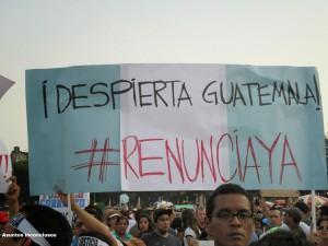 24 Bandera, renuncia ya despierta Guate