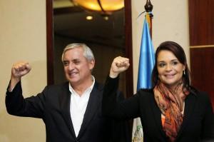 Otto Pérez Molina e Roxana Baldetti