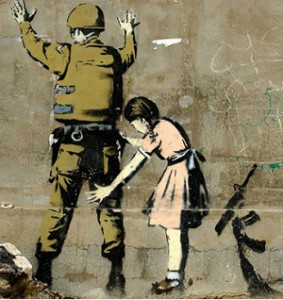 Girl-and-a-Soldier-by-Banksy