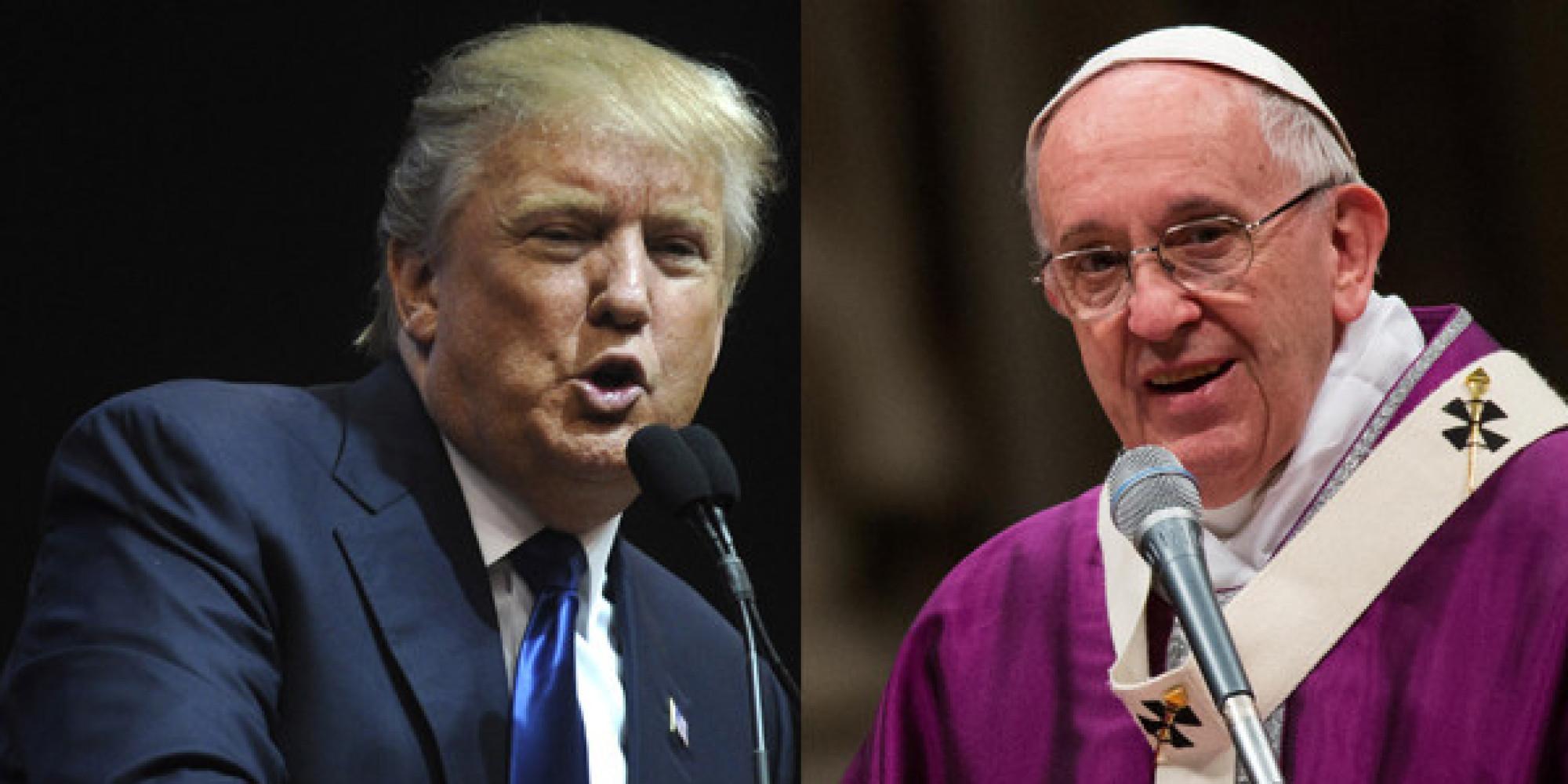 Risultati immagini per papa franceso trump