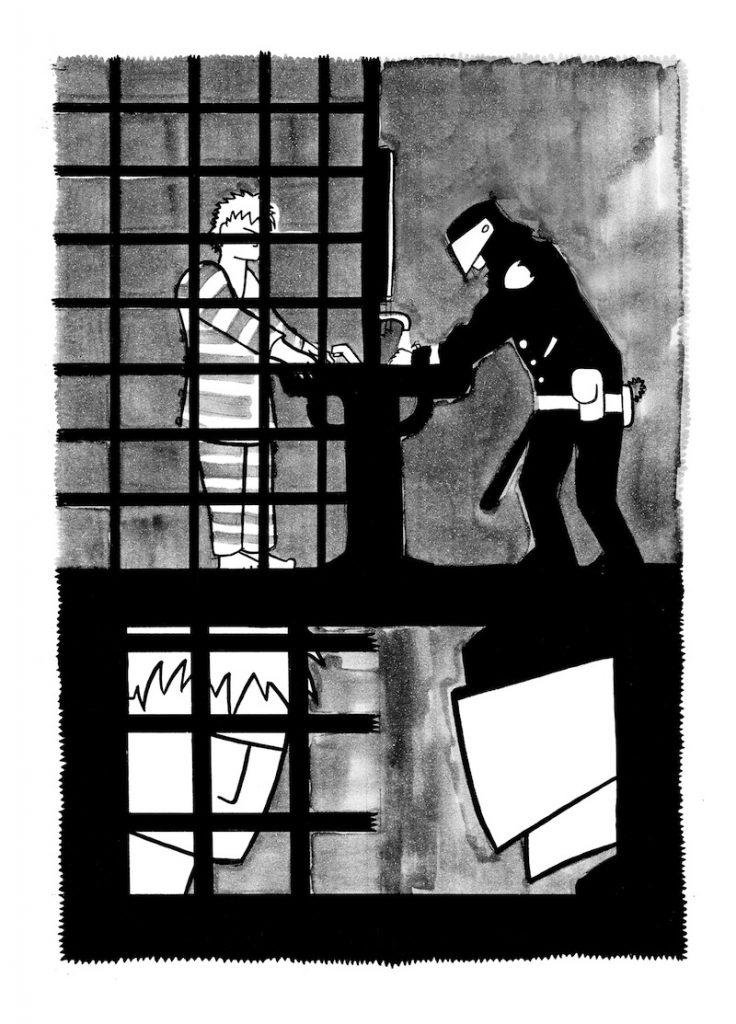 """L'illustrazione di Claudio Calia al racconto """"La pena"""" di Filippo Casaccia"""