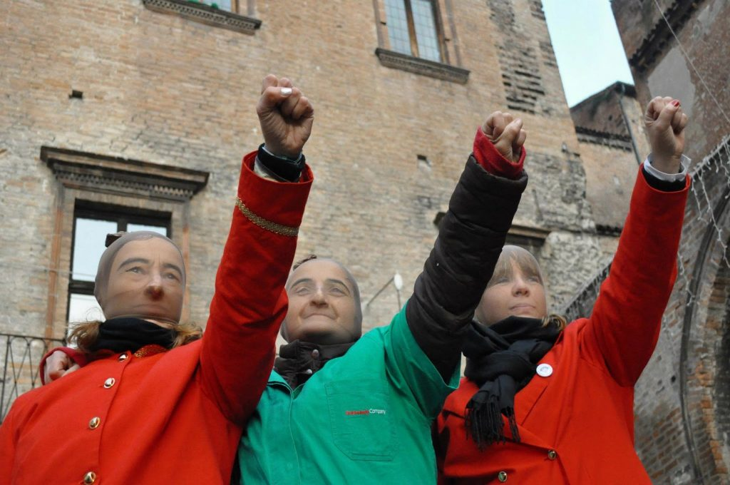Faenza: in lotta contro la delocalizzazione della Omsa, 2012. Foto: Eleonora di Martino.