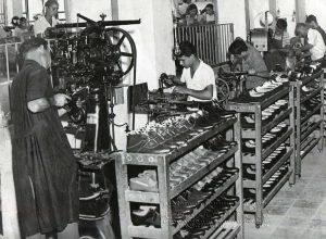1961. Lavorazioni alla Filanto.