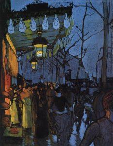 arte-avenue-de-clichy-five-oclock-in-the-evening-by-louis-anquetin-1887