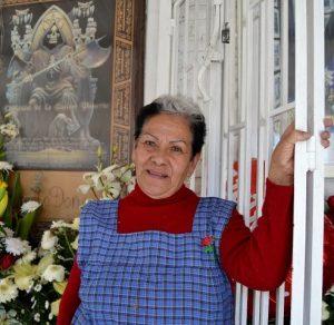 Doña Queta custode Santa Muerte