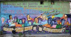 Murale street art per le 7 cabronas e invisibles de Tepito