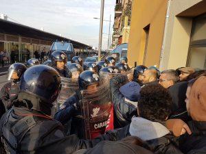 Bologna, sfratto, 7 marzo 2017.