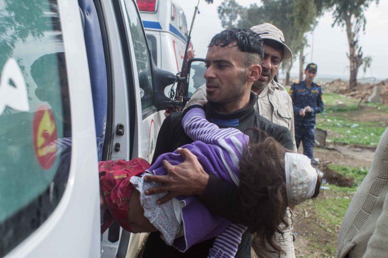 14 aprile 2017. Mosul, bombardamento del quartiere di Mahatta. (Foto: Jérémy André)