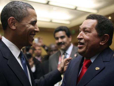 Barack Obama e Hugo Chaveznel 2009